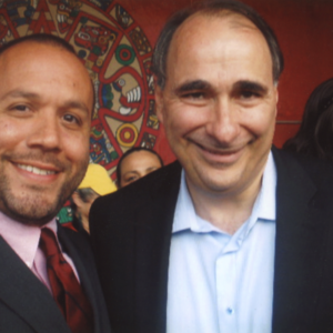 Attorney Justin Rodriguez with David Axelrod, Chief Strategist for Barack Obama's presidential campaigns and later Senior Advisor to President Barrack Obama.