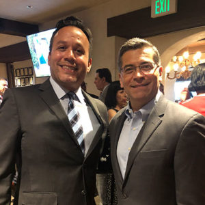Attorney Justin Rodriguez with Xavier Becerra, Attorney General of the State of California, and the first Latino to hold the office in the history of the state.