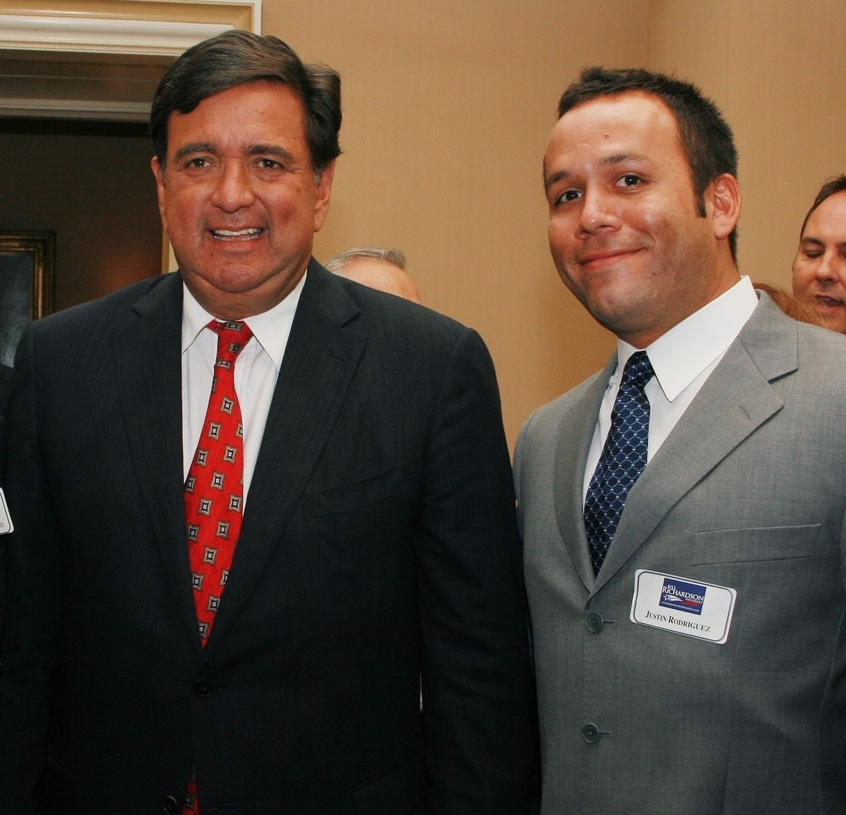Attorney Justin Rodriguez with Bill Richardson, former diplomat, governor of New Mexico, Ambassador to the United Nations and Energy Secretary in the Clinton administration.
